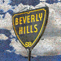 This is a special commission for the Centennial of the City of Beverly Hills. On permanent display in Roxbury park. All the small images are taken from a year of photographing events, and and the residents and friends of Beverly Hills. This is a special purchase item.