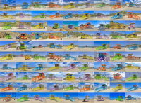 Lifeguard Collage of all the towers from the Ventura county line to just south of Marina Del Rey. Taken during the Summer of Color eventl. The image 48 X 36 image plus border. This is an archival print on archival paper. This is a limited edition.